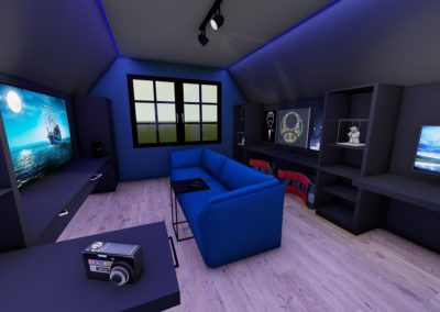 3D ontwerp game room